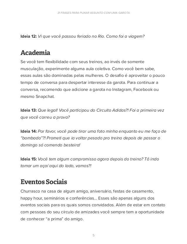 Ebook 31 Frases Para Puxar Assunto Com Uma Mulher Eduardo
