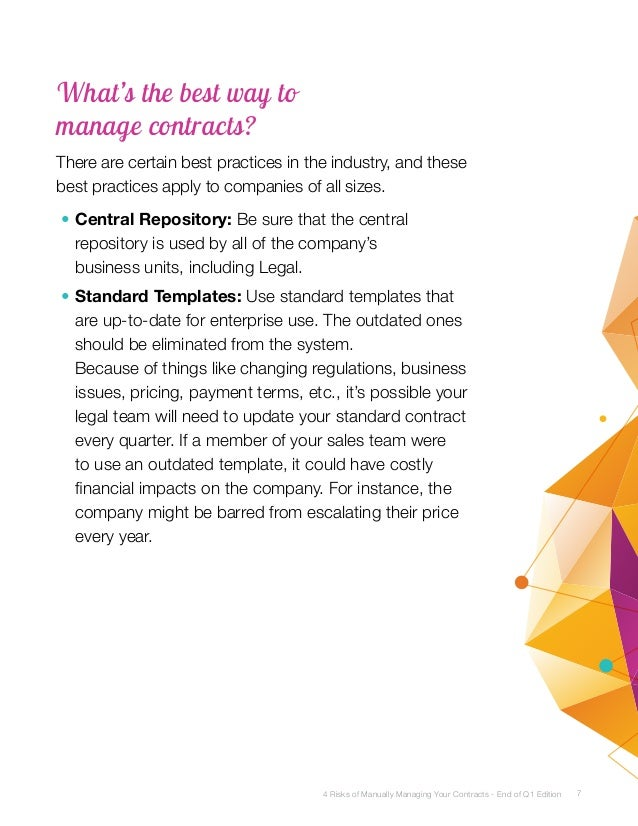 4 Risks of Manually Managing Sales Contracts – Sales Contracts