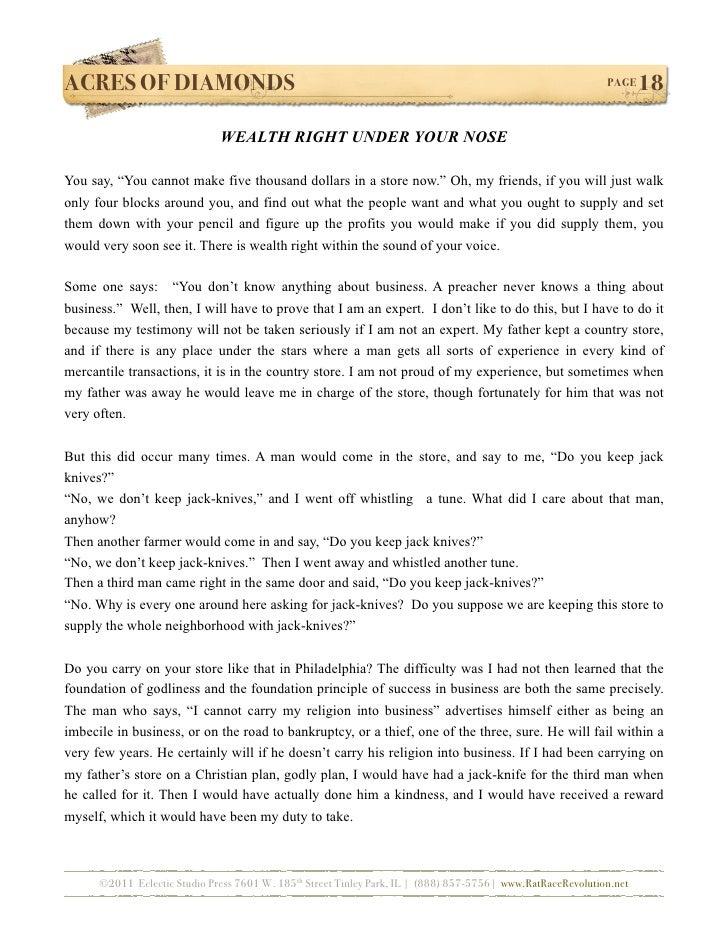 acres of diamonds book pdf