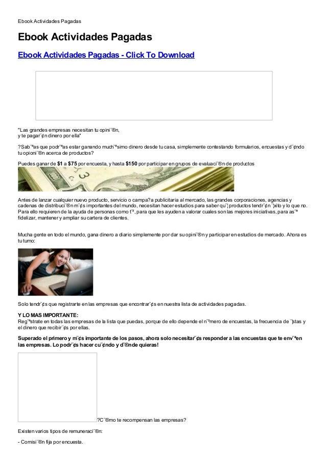 Ebook Actividades PagadasEbook Actividades PagadasEbook Actividades Pagadas - Click To DownloadFree, Buy, Full Version, Cr...