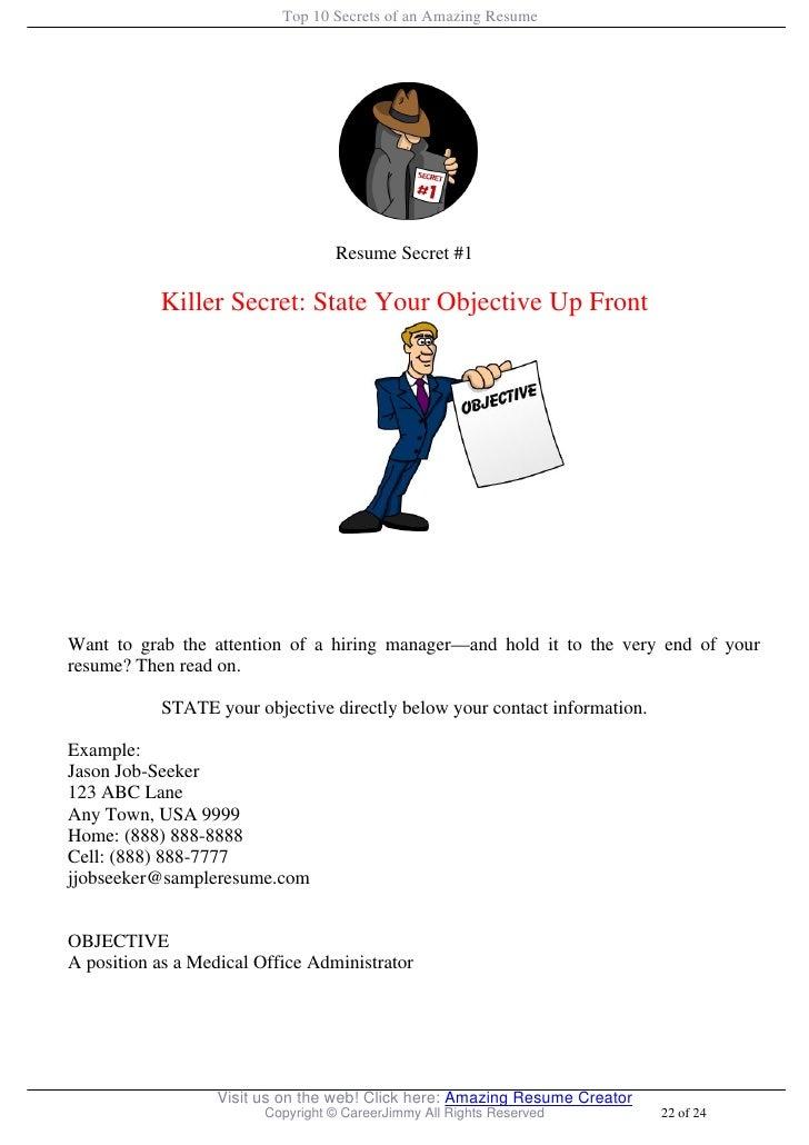 Top 10 Secrets of an Amazing Resume