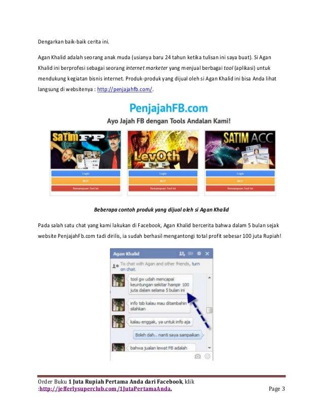 Ebook buka facebook dapat duit (cara menghasilkan uang dari facebook) Slide 3