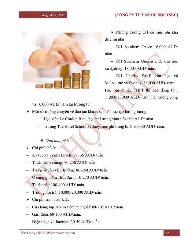 August 17, 2015 [CÔNG TY TƯ VẤN DU HỌC INEC] FB: Du học INEC |Web: www.inec.vn. 22  Những trường ĐH có mức phí khá dễ chị...