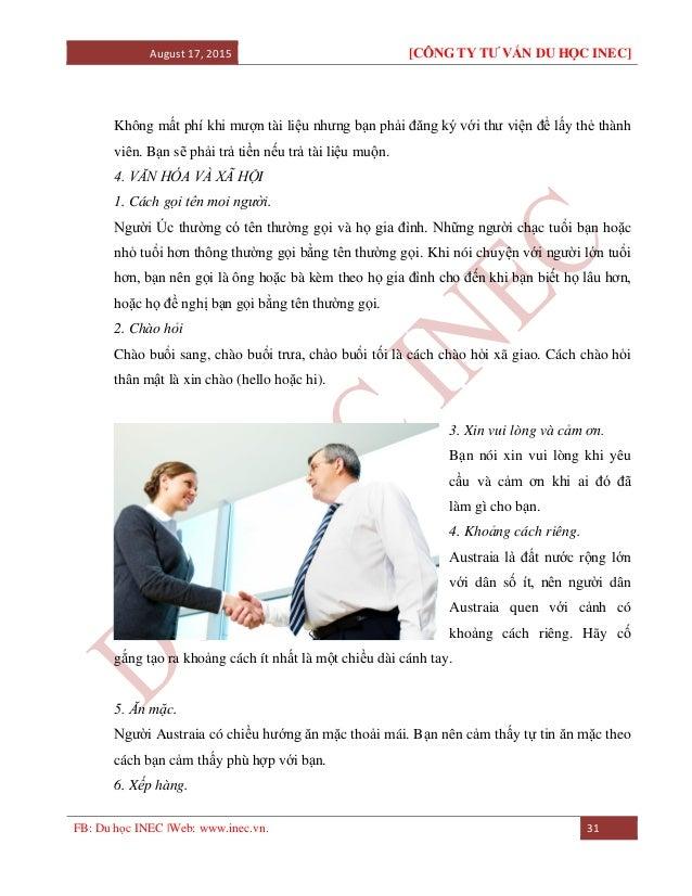 August 17, 2015 [CÔNG TY TƯ VẤN DU HỌC INEC] FB: Du học INEC |Web: www.inec.vn. 31 Không mất phí khi mượn tài liệu nhưng b...