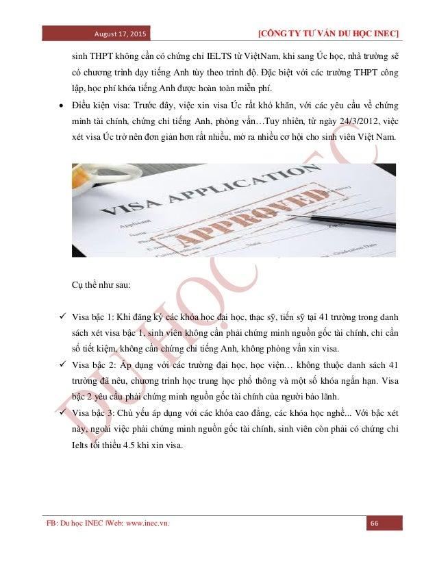 August 17, 2015 [CÔNG TY TƯ VẤN DU HỌC INEC] FB: Du học INEC |Web: www.inec.vn. 66 sinh THPT không cần có chứng chỉ IELTS ...