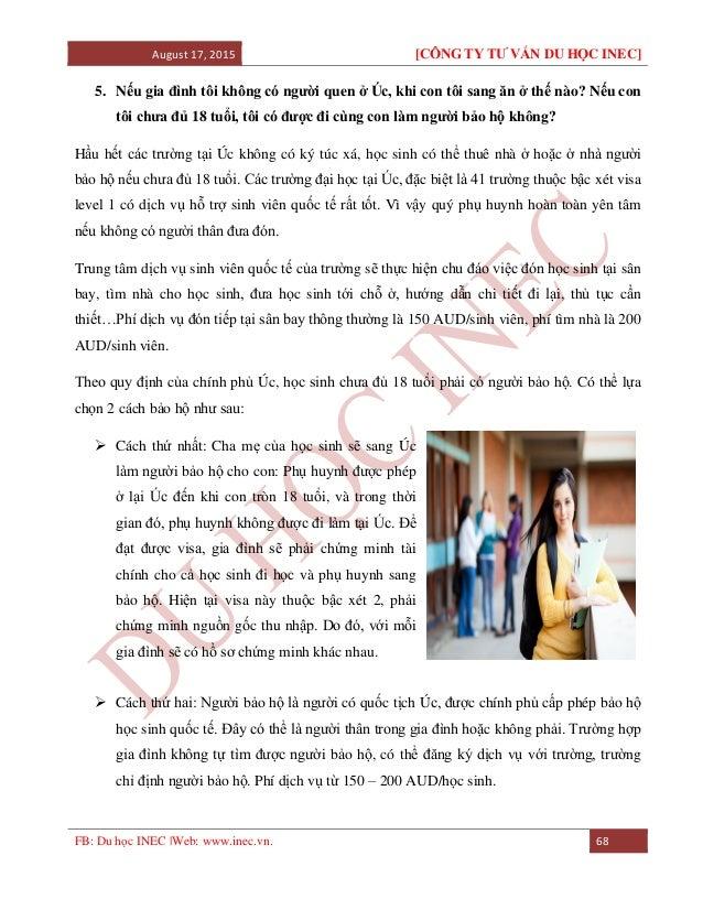 August 17, 2015 [CÔNG TY TƯ VẤN DU HỌC INEC] FB: Du học INEC |Web: www.inec.vn. 68 5. Nếu gia đình tôi không có người quen...