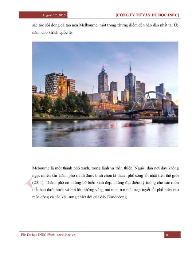 August 17, 2015 [CÔNG TY TƯ VẤN DU HỌC INEC] FB: Du học INEC |Web: www.inec.vn. 8 sắc tộc sôi động đã tạo nên Melbourne, m...