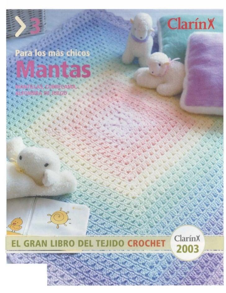 [E book] clarín   el gran libro del tejido crochet 2003 - mantas