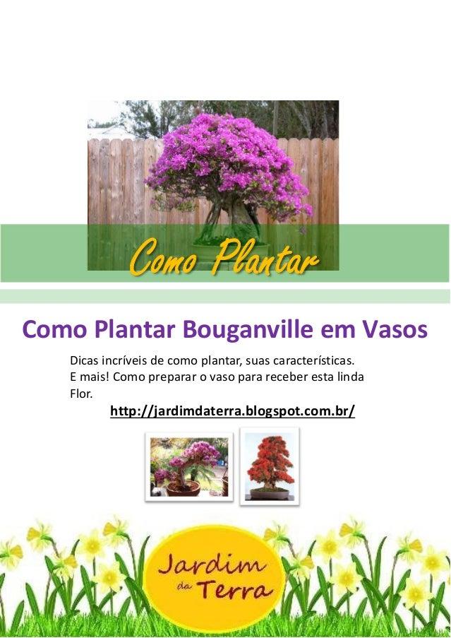 Como Plantar Bouganville em Vasos http://jardimdaterra.blogspot.com.br/ Como Plantar Bouganville em Vasos Dicas incríveis ...