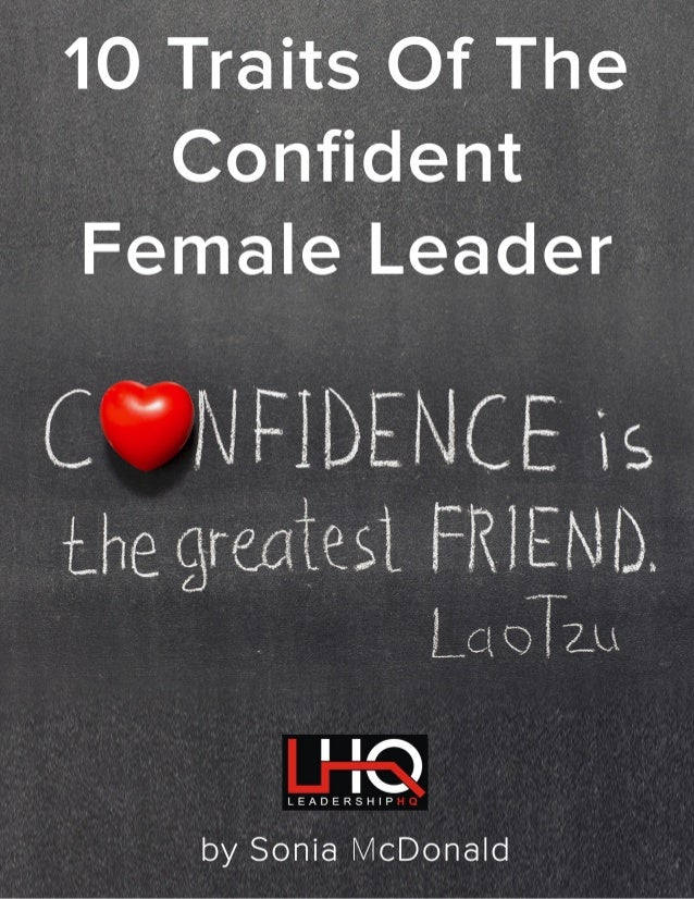 10 Traits Of The Confident Female Leader 2 www.leadershiphq.com.au CONTENTS INTRODUCTION.....................................