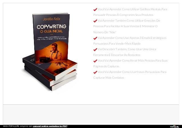 Ebook copywriting Jordão Felix - Venda toneladas de produtos Slide 2
