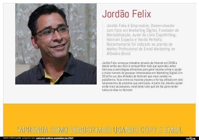 Ebook copywriting Jordão Felix - Venda toneladas de produtos Slide 3