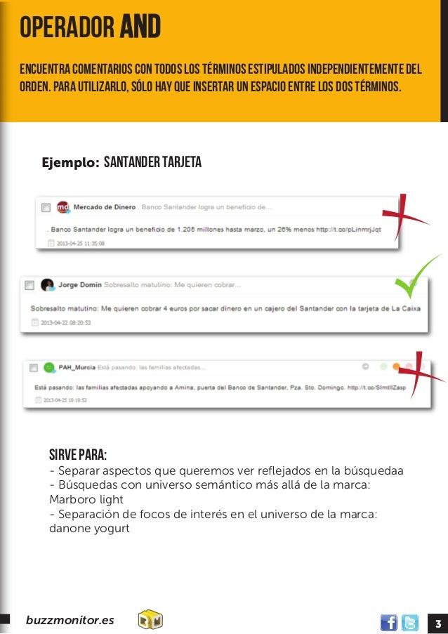 Creación de términos de búsqueda, posibilidades, operadores, y usos en Buzzmonitor Slide 3