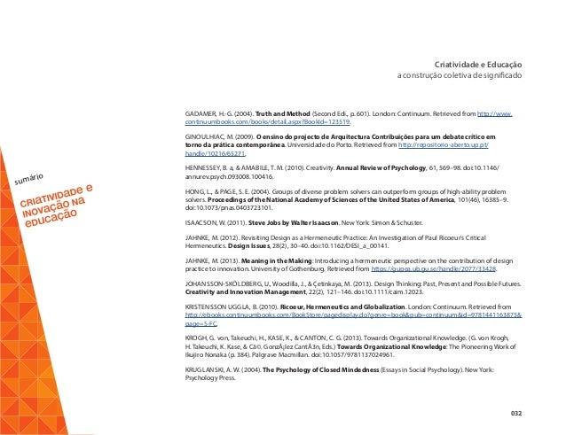 Ebook criatividade e inovao na educao 33 sumrio criatividade fandeluxe Gallery
