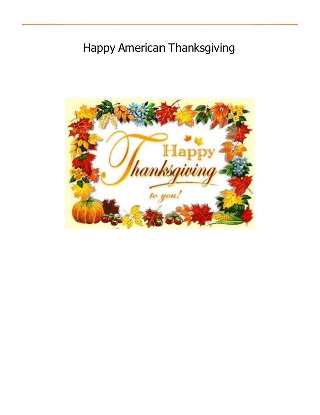 Happy American Thanksgiving