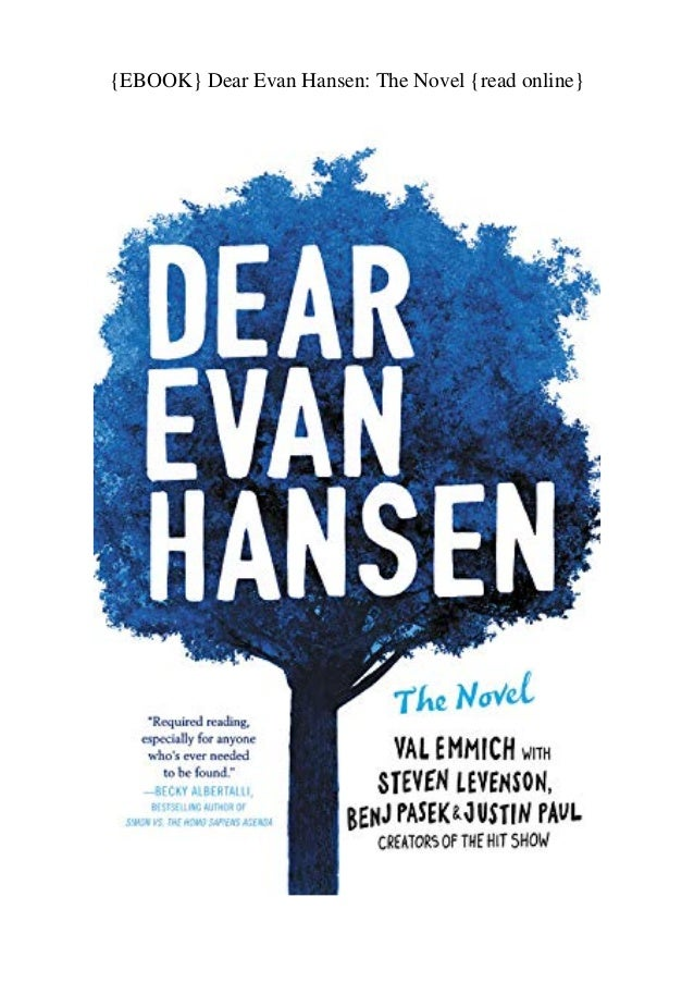 Ebook Dear Evan Hansen The Novel Read Online