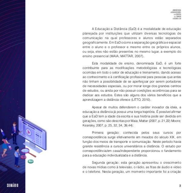 """26SUMÁRIO """"No século XXI, discute-se a EAD, caracterizada pelo uso da inteligência artificial e da realidade virtual"""" (BAT..."""