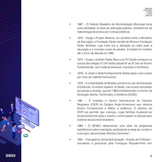 30SUMÁRIO do Estado do Rio de Janeiro, por intermédio da Secretaria de Ciência e Tecnologia, as universidades públicas e a...