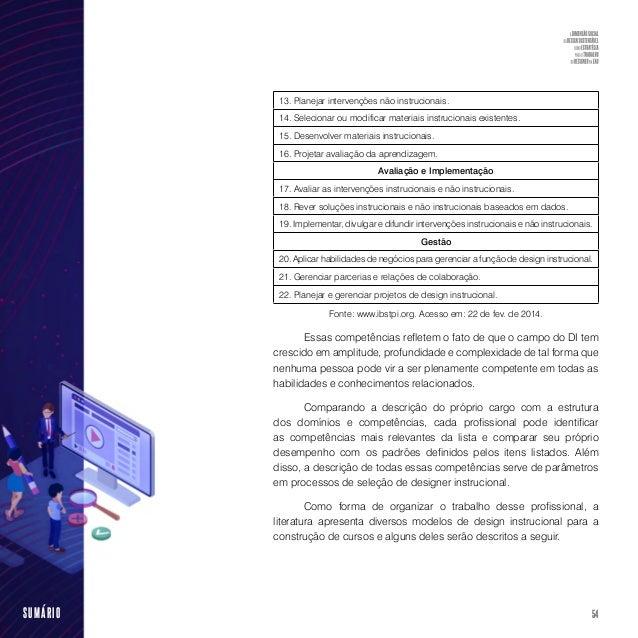 56SUMÁRIO conhecido como modelo ADDIE (abreviatura em inglês para analysis, design, development, implementation e evaluati...