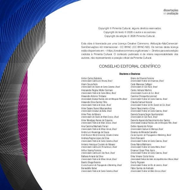 Dissertações em avaliação: manual de estrutura e formatação de trabalhos acadêmicos Slide 3