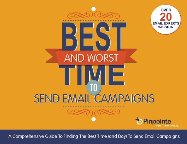EMAIL MARKETING (800) 920-7227 | www.pinpointe.com TIMETIMETIME AND WORST SEND EMAIL CAMPAIGNS AND WORST SEND EMAIL CAMPAI...