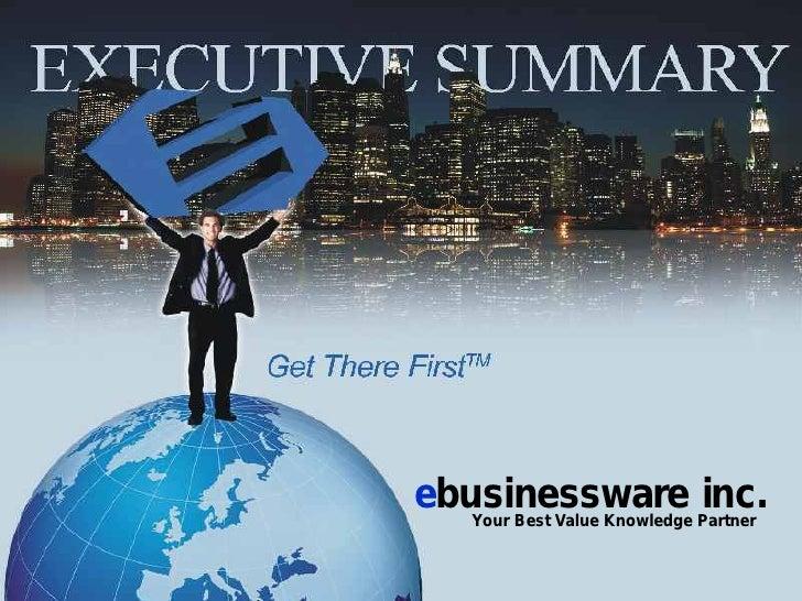 ebusinessware Partner    Your Best Value Knowledge                              inc.