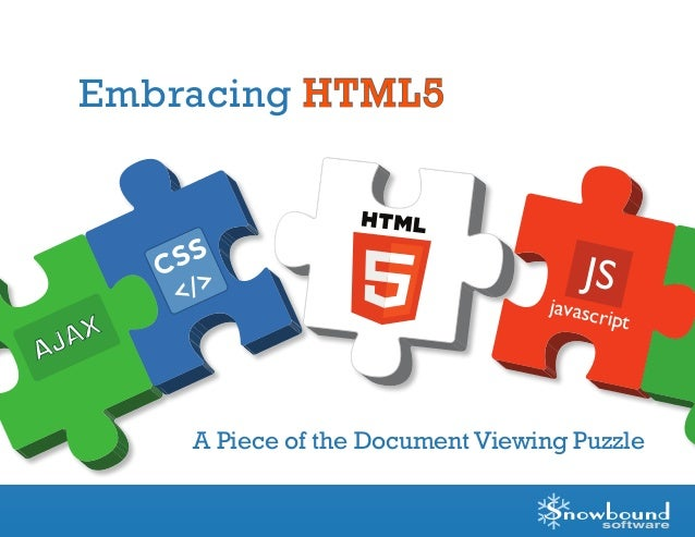 CSS </> JS javascript AJAX Embracing HTML5 A Piece of the Document Viewing Puzzle