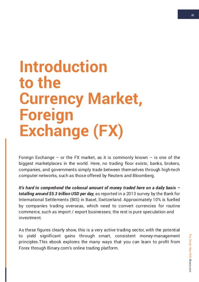 Trading the Forext Market by Vince Stanzione for Binary com