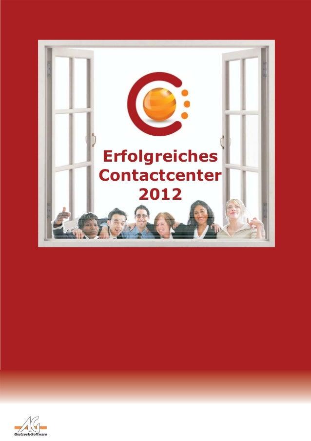 Erfolgreiches Contactcenter 2012