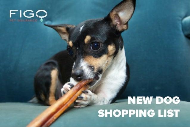 NEW DOG SHOPPING LIST