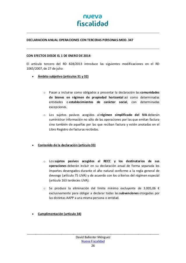 Ebook Fiscalidad y Contabilidad 2013 2014 (Nueva fFscalidad) Autor: D…