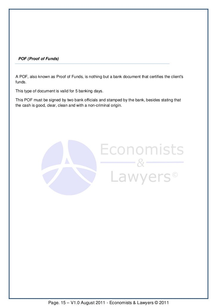 Proof of funds letter from bank peopledavidjoel proof altavistaventures Choice Image