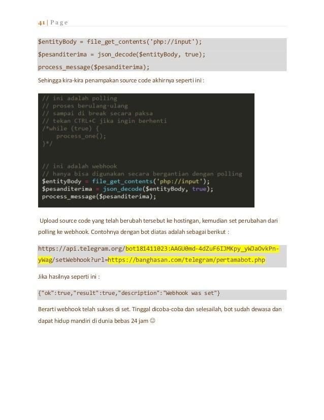 Ebook I - membuat bot telegram dengan php