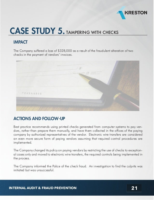 Ebook audit case study tampering with checks internal audit fraud prevention 22 fandeluxe Images