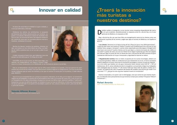 Innovar en calidad                                                           ¿Traerá la innovación                        ...