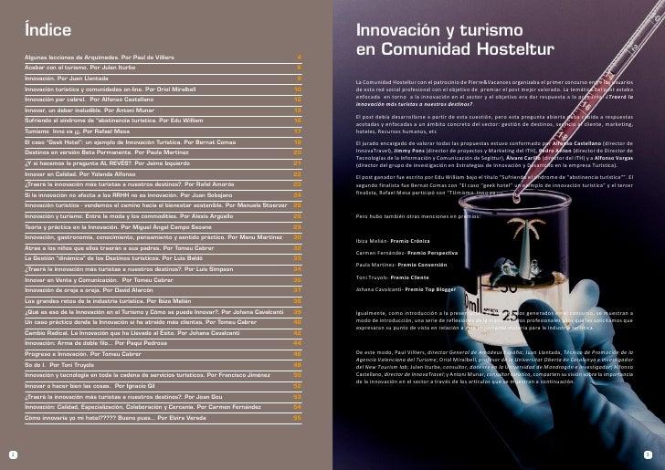 Índice                                                                                               Innovación y turismo ...
