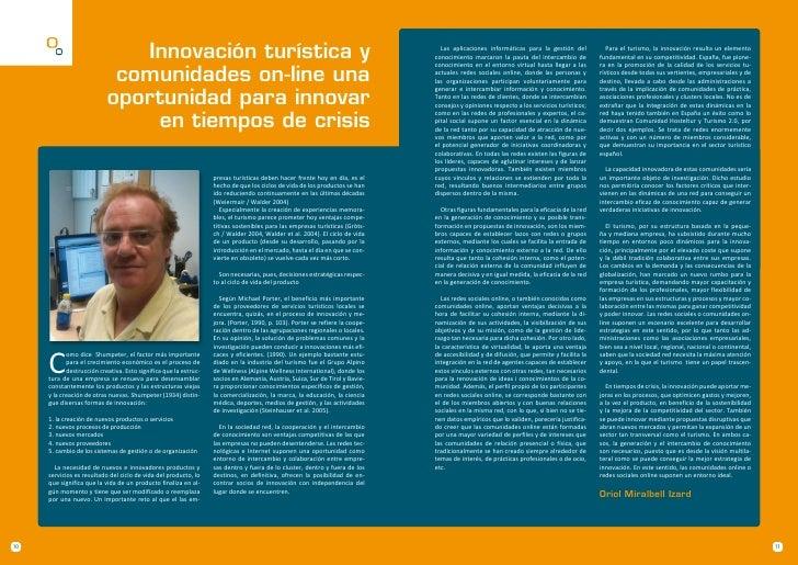 Innovación turística y                                                                            Las aplicaciones informá...