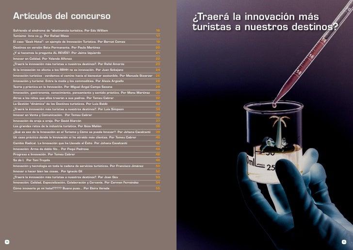 Artículos del concurso                                                                               ¿Traerá la innovación...