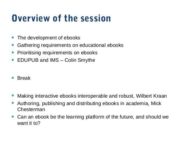 Ebook session introduction Slide 2