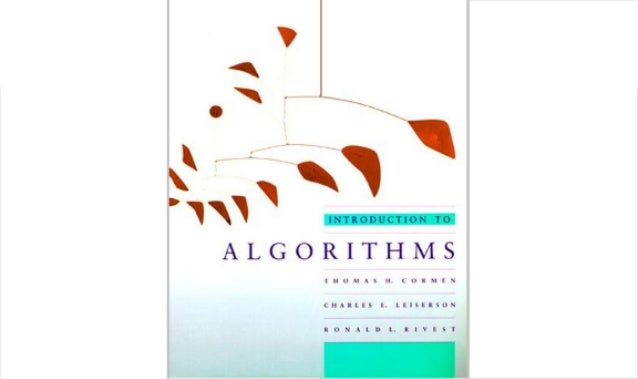 Ebook  intro to algorithms cormen rivest