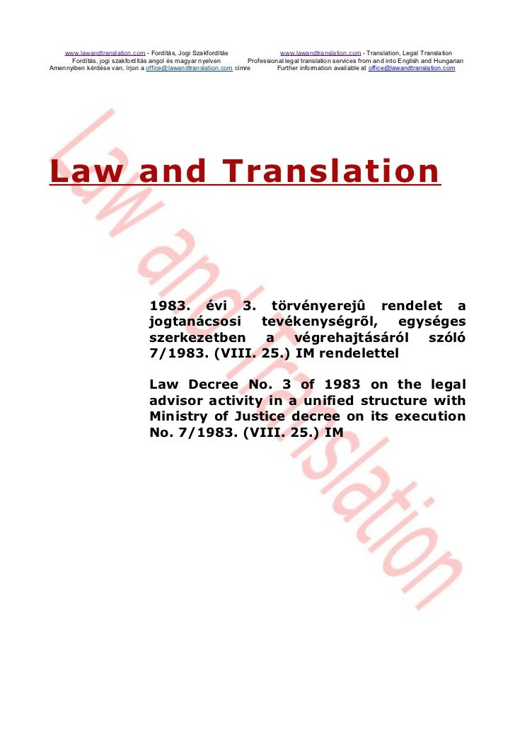 www.lawandtranslation.com - Fordítás, Jogi Szakfordítás                 www.lawandtranslation.com - Translation, Legal Tra...