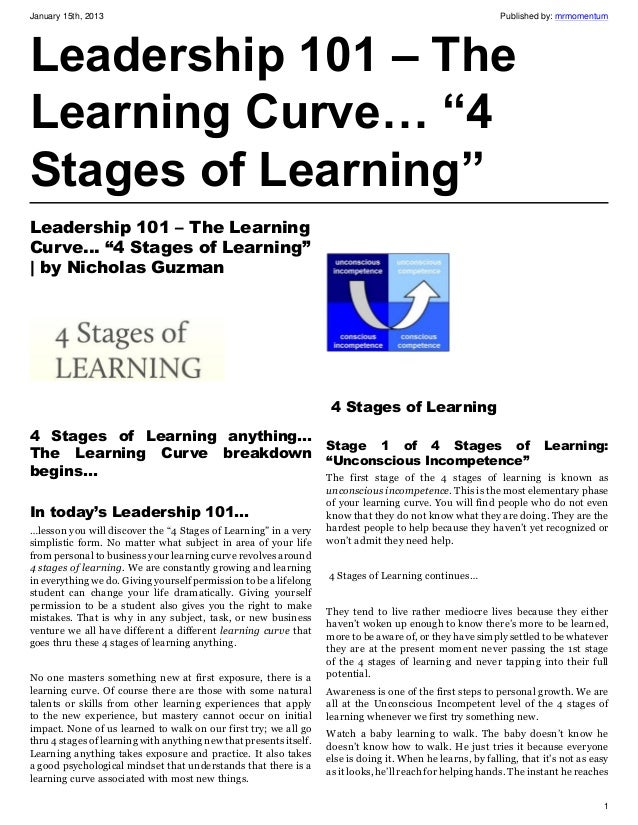 Leadership 101 ebook download gallery ebooks and epub download free ebook leadership 101 the learning curve 4 stages of learning january 15th 2013 gazduirepagina gallery fandeluxe Gallery