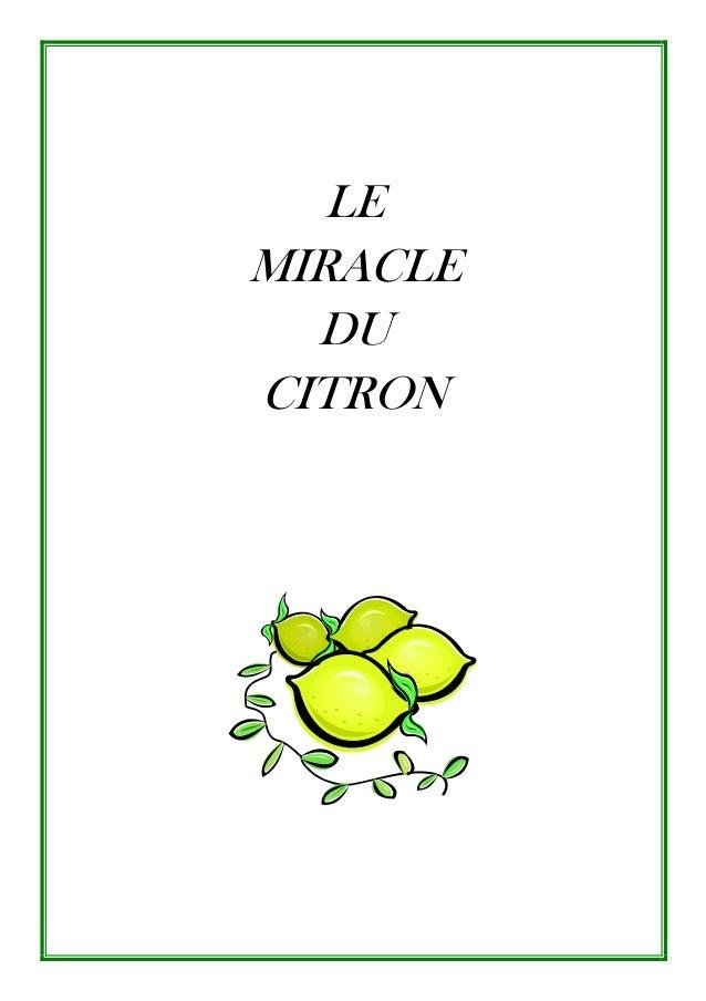 LE MIRACLE DU CITRON