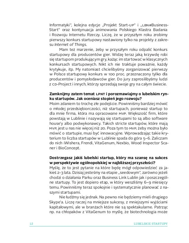 """12 LUBELSKIE STARTUPY Informatyki"""", kolejna edycje """"Projekt Start-up"""" i """"lbn#Business- Start"""" oraz kontynuacja animowania..."""