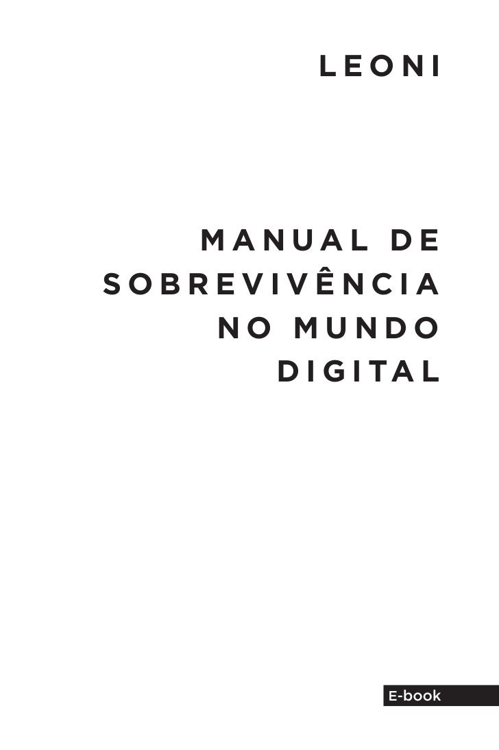 E-Book Manual de Sobrevivência no Mundo Digital