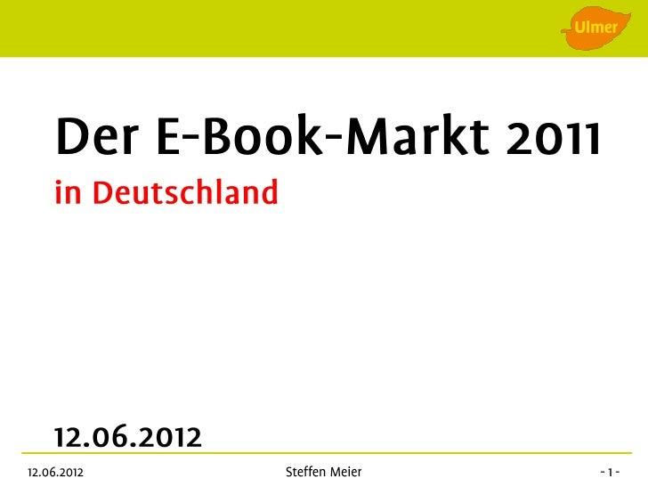 Prognose zum Absatz von eBooks (in Mio. Stück) in Deutschland bis 2015 (StudieKirchner + Robrecht) Oktober 2009Absatz in M...