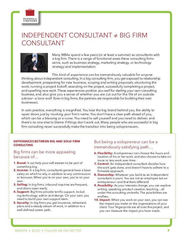 Ebook: The MBA's Guide to Independent Consulting