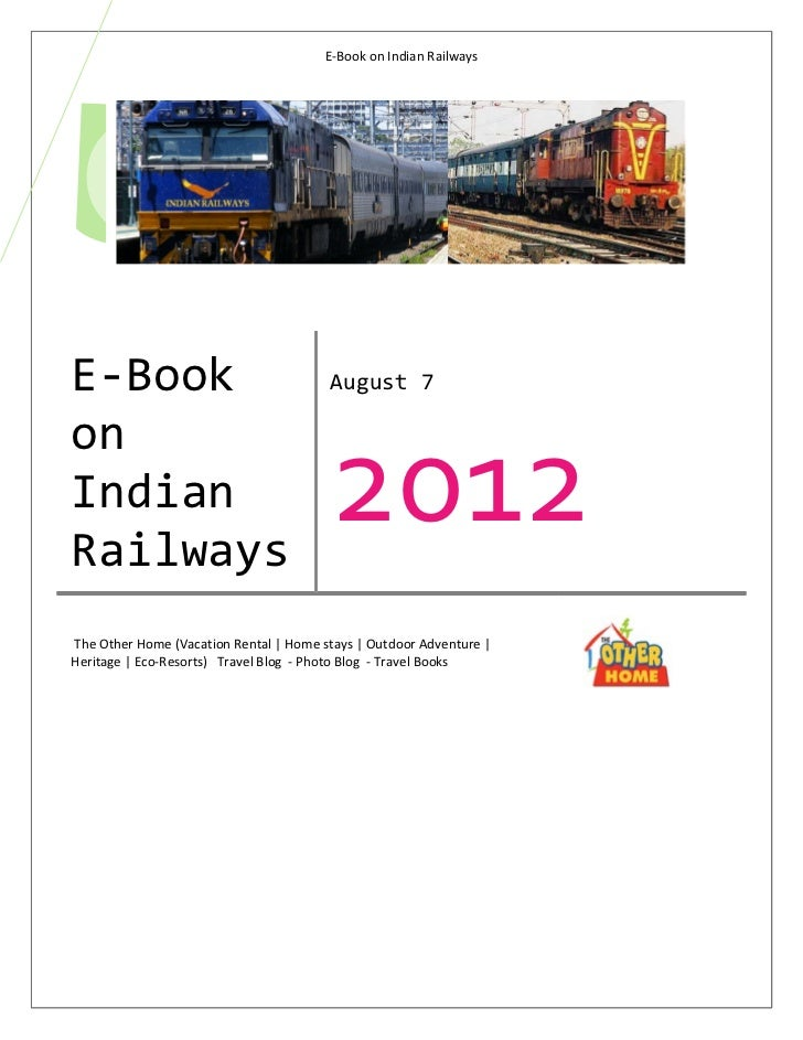 E-Book on Indian Railways          Aug. 7E-Book                                  August 7                                 ...