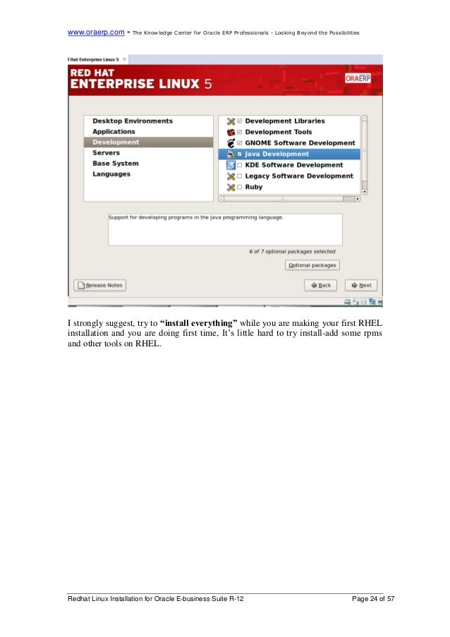 Oracle e-business suite R12 step by step Installation