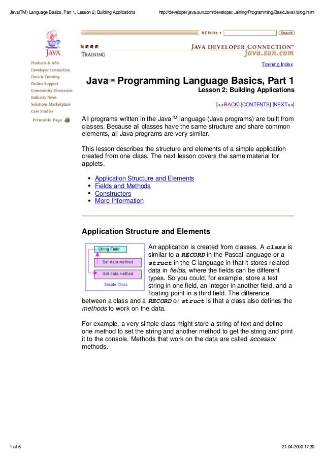 Pdf For Java Programming